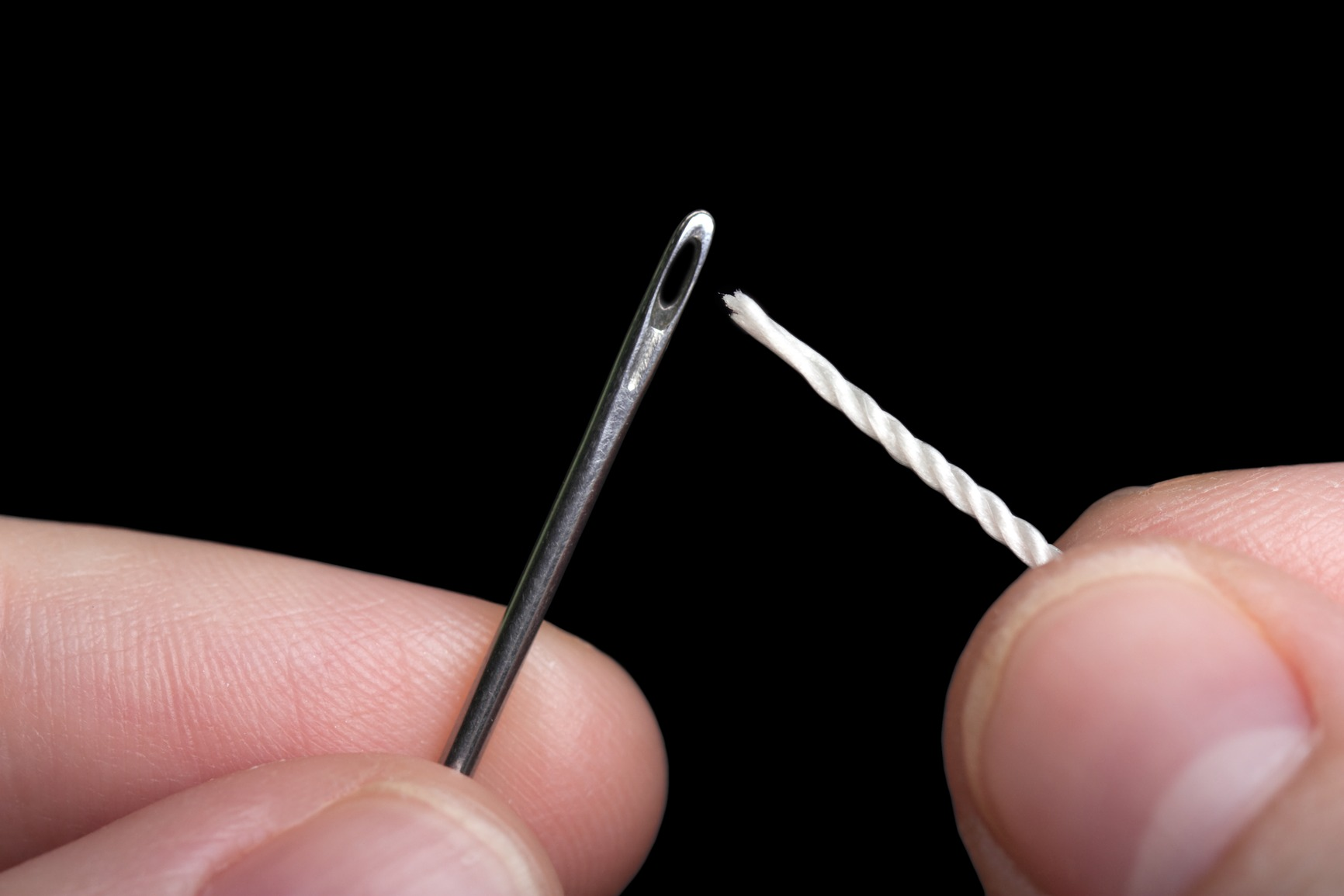 Sewing needle and thread