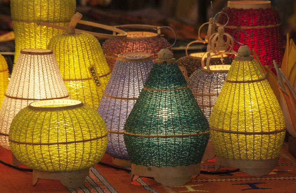 Lamps for sale in a shop in Ho CHi Minh City