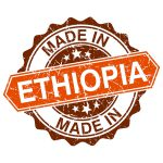 made in Ethiopia vintage stamp isolated on white background